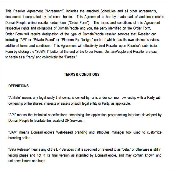 sample reseller agreement template hitecauto - sample reseller agreement