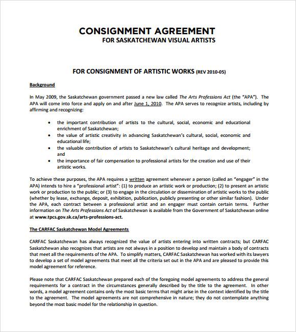 consignment agreement form - Alannoscrapleftbehind
