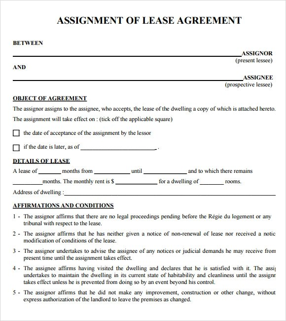 Sample Lease Agreements - 8+ Documents In PDF, Word - apartment lease agreement free printable