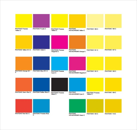 Sample Pantone Color Chart - 6+ Documents in PDF, Word - sample pantone color chart