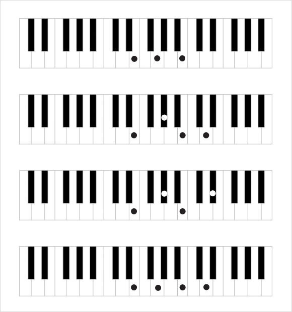 Sample Piano Notes Chart - 8+ Documents in PDF