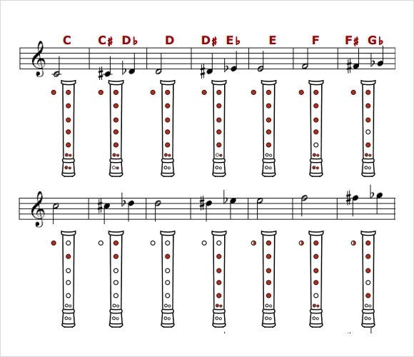 8+ Sample Recorder Finger Charts Sample Templates