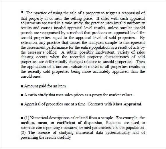 Sample Property Assessment - 7+ Examples, Format