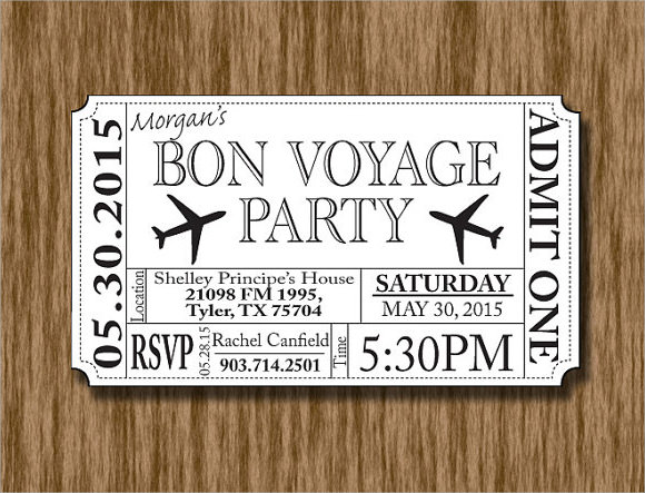 plane ticket invitation template - plane ticket invitation template