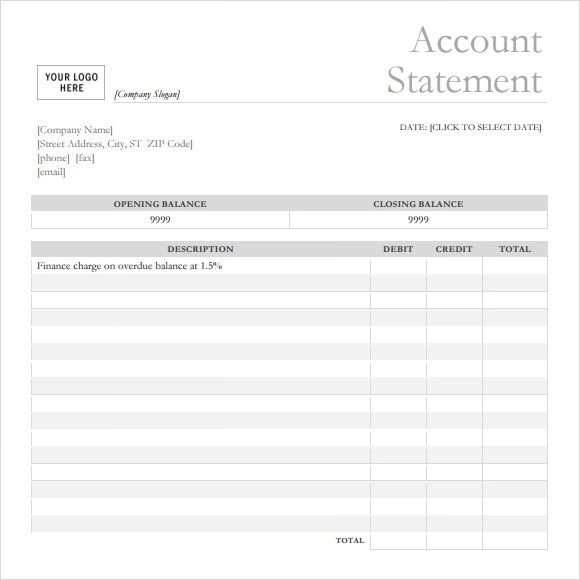 Bank Statement - 9+ Free Samples , Examples, Format