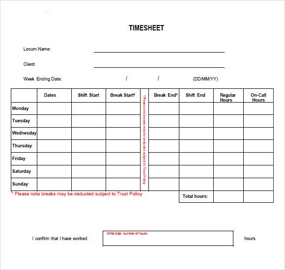 timesheet template uk