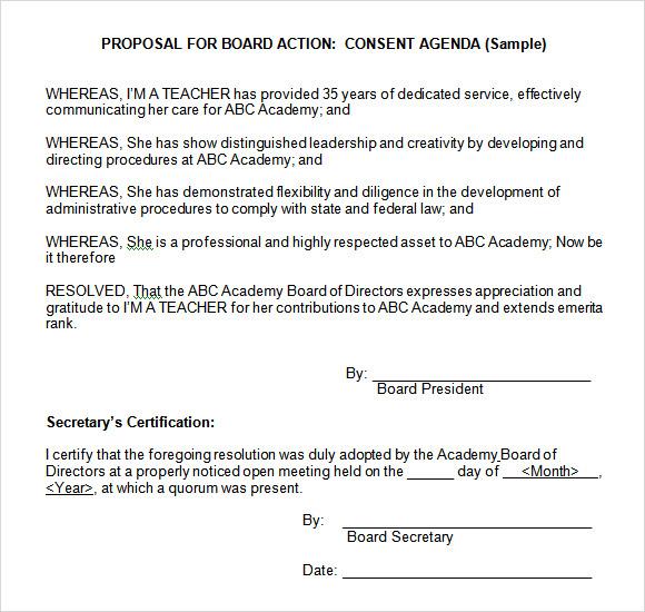 12 Board Meeting Agenda Templates \u2013 Free Samples, Examples  Format