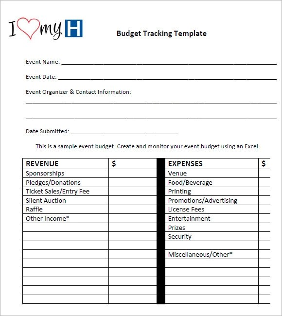 7 Budget Tracking Template \u2013 Free Samples , Examples  Format
