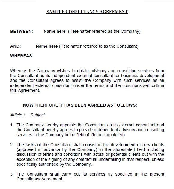 Consulting Agreements Consulting Agreement In Pdf Consultation - consulting agreement sample in word