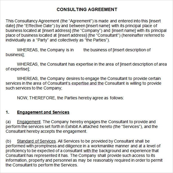 consulting contract sample