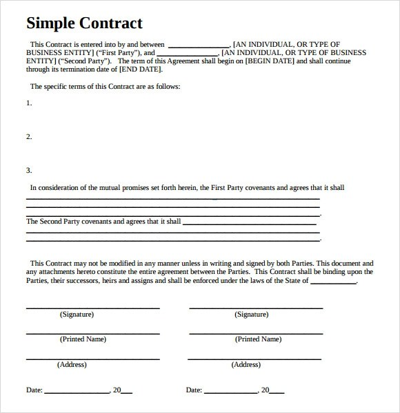 nanny contract template word - contract templates word