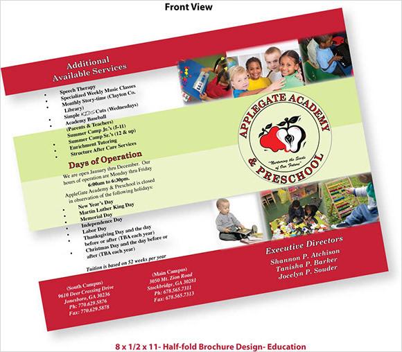 10+ Preschool Brochures Sample Templates