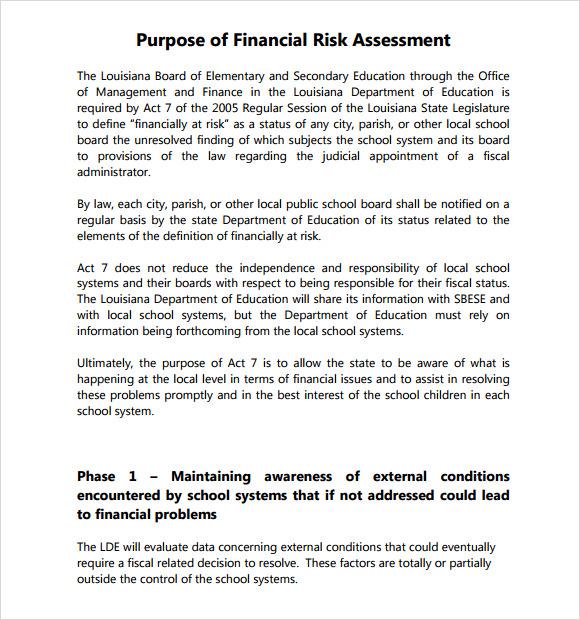 7+ Security Risk Assessment Samples Sample Templates - sample security risk assessment