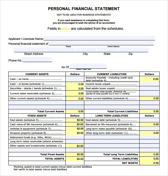 11+ Financial Statement Samples - Word, PDF