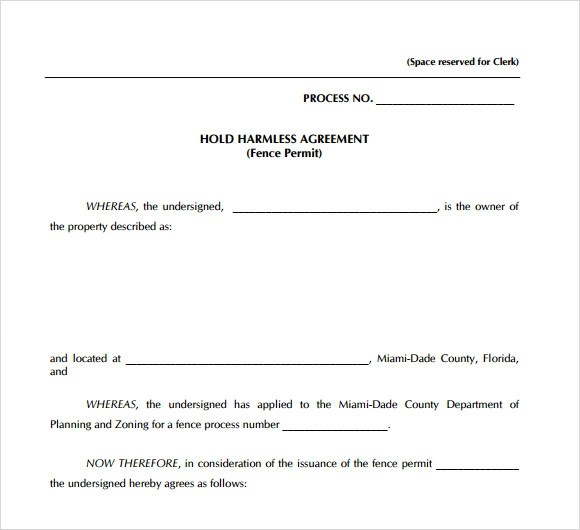 Hold harmless agreement template - visualbrainsinfo - hold harmless agreement