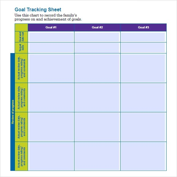Sample Goal Tracking - 7+ Documents In PDF, Word - sample goal tracking