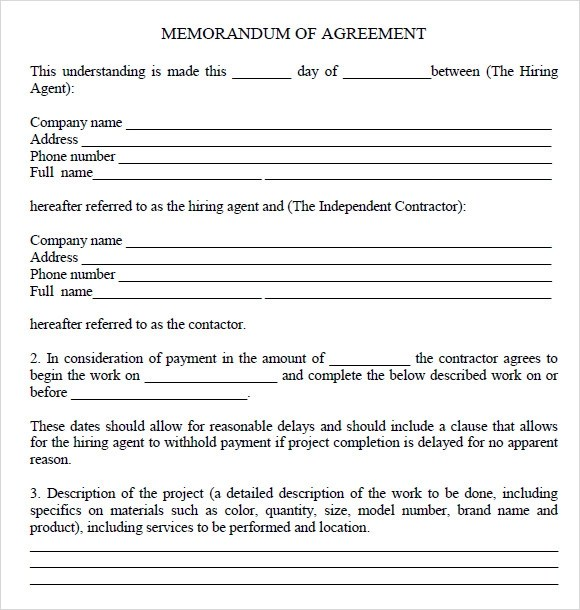 10+ Sample Memorandum of Agreements Sample Templates - memorandum of agreement template