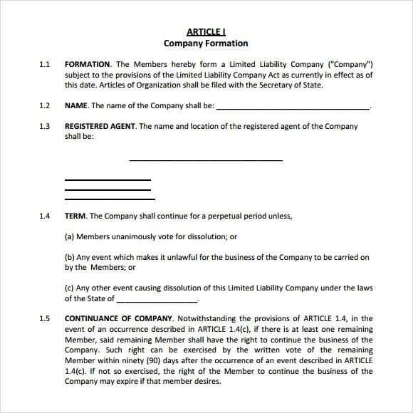 Sample Operating Agreement - 9+ Examples, Format - business operating agreement