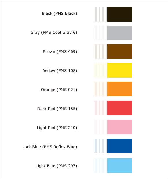Sample PMS Color Chart - 7+ Examples, Format - sample pantone color chart