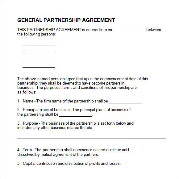 general partnership agreement template - general partnership agreements