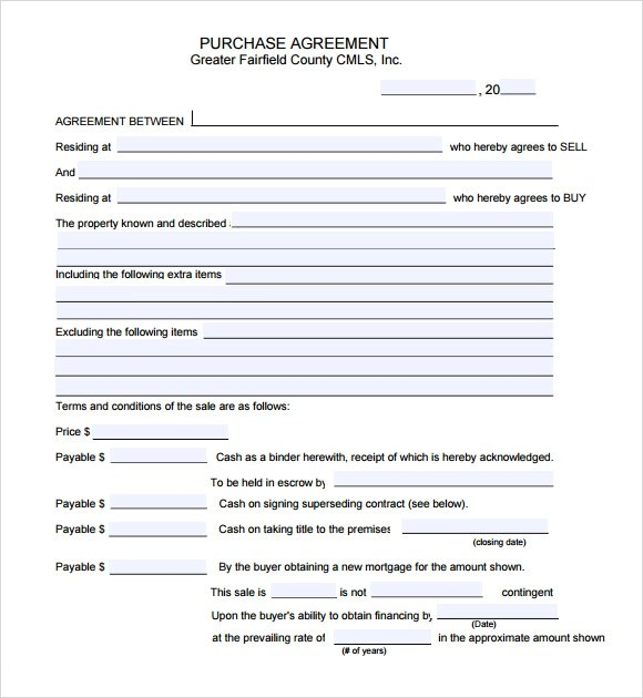 simple purchase agreement template - Minimfagency