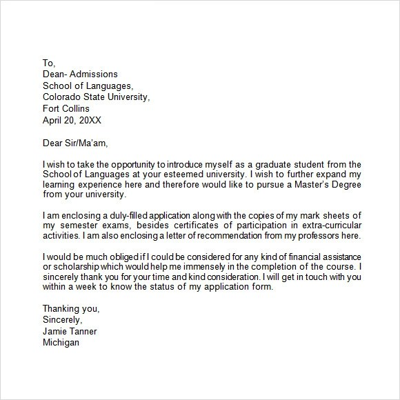 10 Application Letters \u2013 Free Samples , Examples  Format Sample - Sample Of Covering Letter For Job Applications