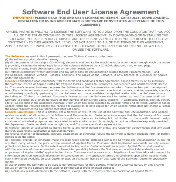 Sample Software License Agreement Template | Create Professional