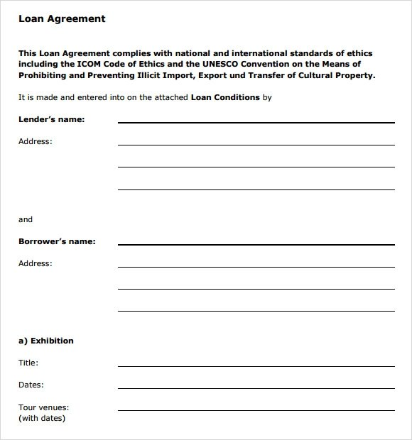 9+ Sample Loan Agreements Sample Templates - loan agreements templates