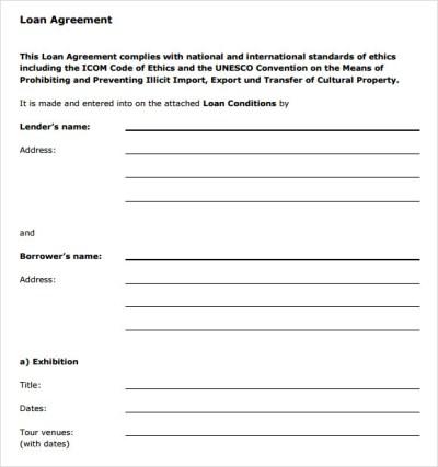 9+ Loan Agreement Samples - PDF, Word