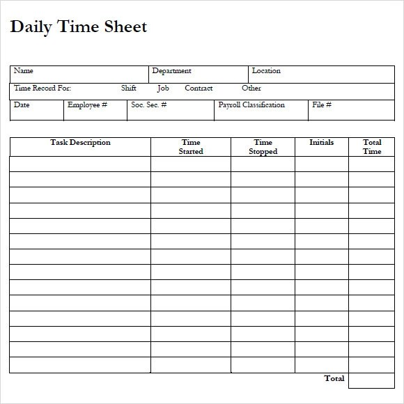 free printable monthly timesheet template - Romeolandinez