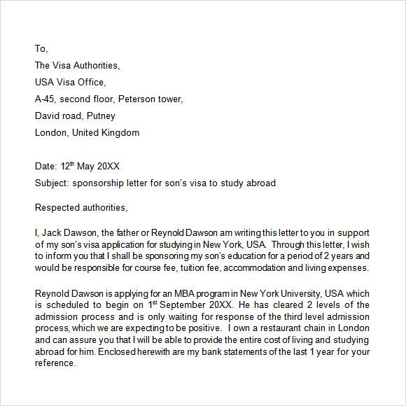 sponsor letter sample - Divingthexperience - Format Of A Sponsorship Letter