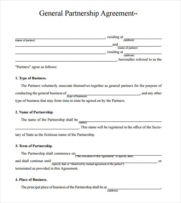 standard business partnership agreement - zrom - business partner agreement