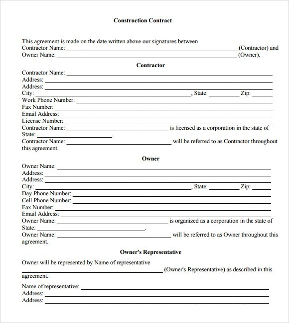 Sample Contract Agreement - 12+ Documents In PDF, Word