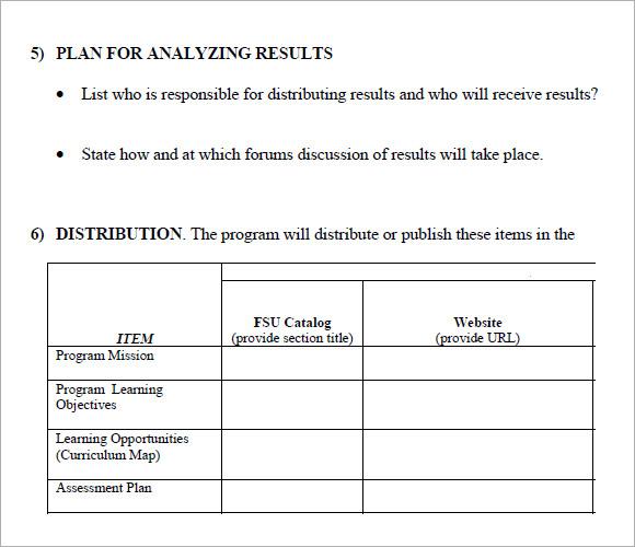 flight plan template spintel - sample assessment plan