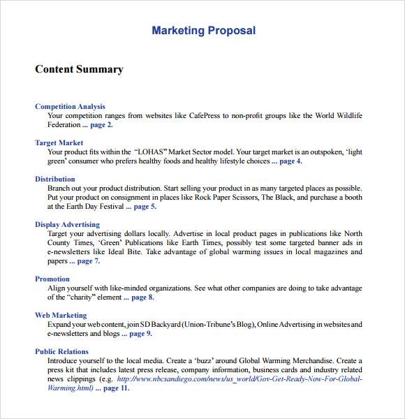 20+ Sample Marketing Proposal Templates Sample Templates