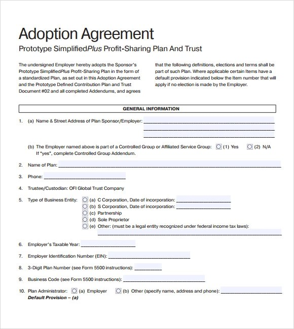 Totally Free Lease Agreement Template – Profit Sharing Agreement Template