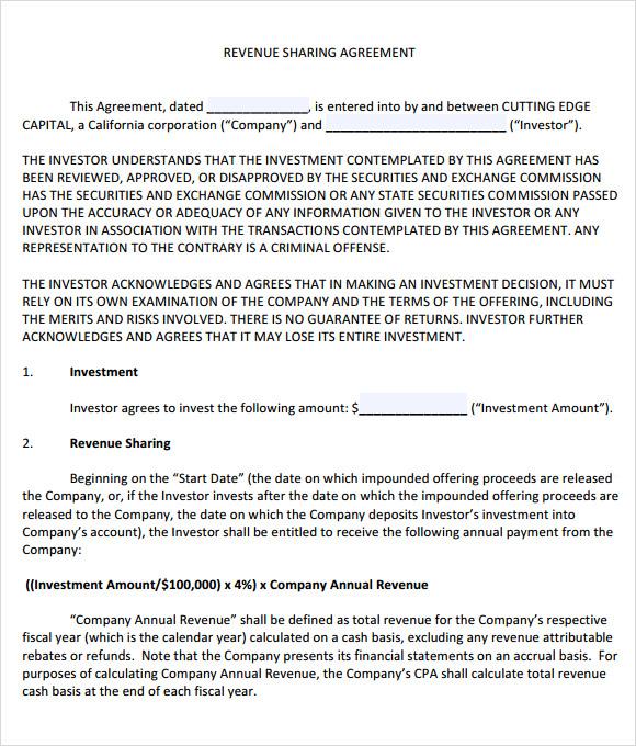 Investment Agreements Sample Agreements - visualbrainsinfo - sample agreements