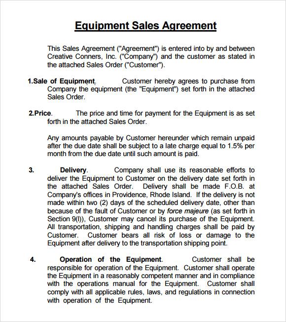 8+ Sales Agreement Samples Sample Templates