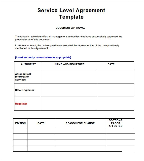 16+ Service Level Agreement Samples - Word, PDF