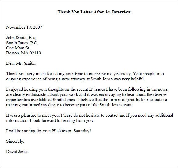 Sample Thank You Email - 6+ Example, Format
