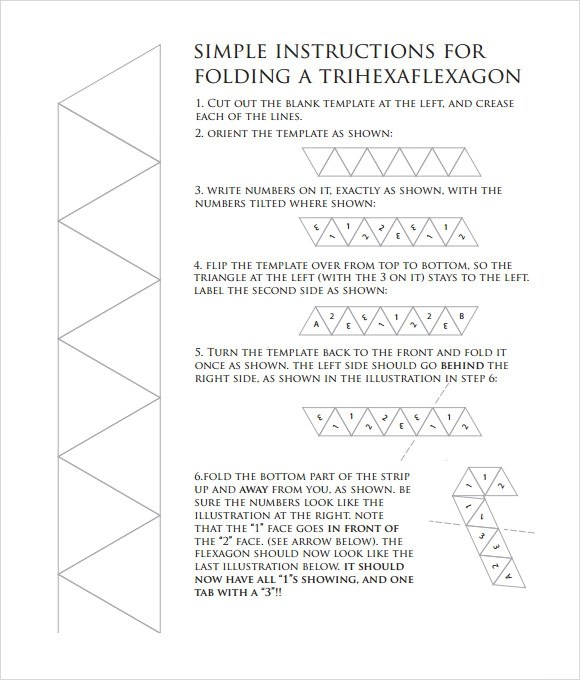 7 Hexaflexagon Templates for Free Download Sample Templates - hexaflexagon template