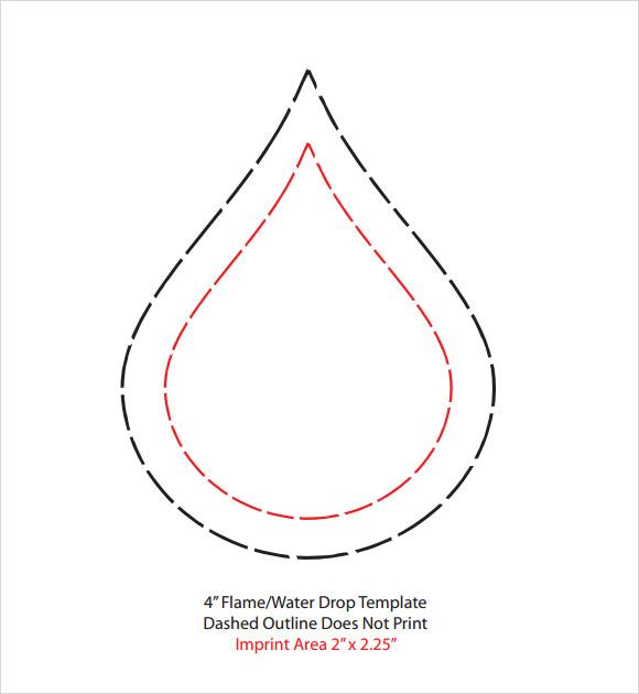 printable raindrops template