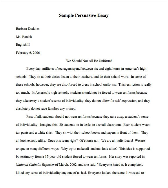 Speech Sample Speech Essay Examples Sample Narrative Essay