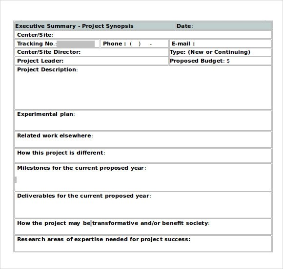 9 Executive Summary Templates for Free Download Sample Templates - executive summary template word