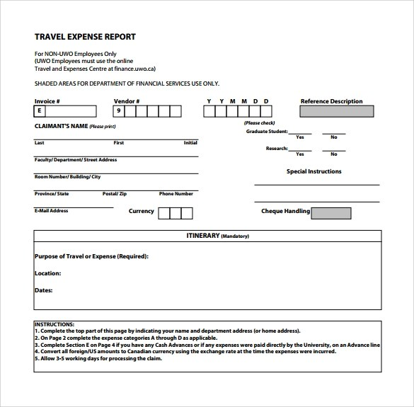 travel expense report template, Invoice examples