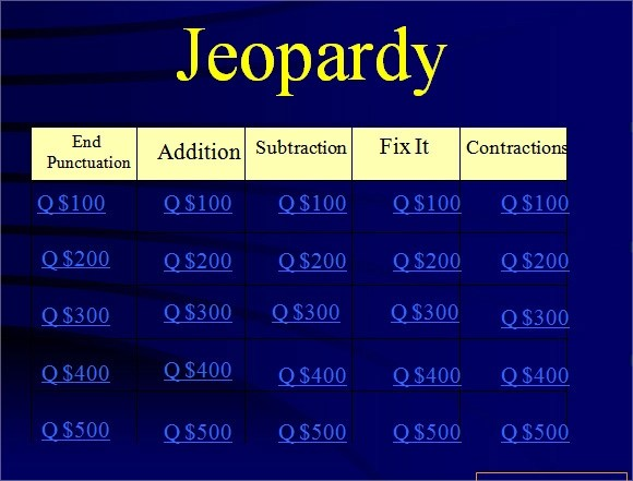 Jeopardy Powerpoint Template - 8+ Free Samples , Examples , Format - sample jeopardy powerpoint