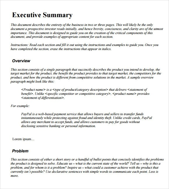 template executive summary - 28 images - resume executive summary