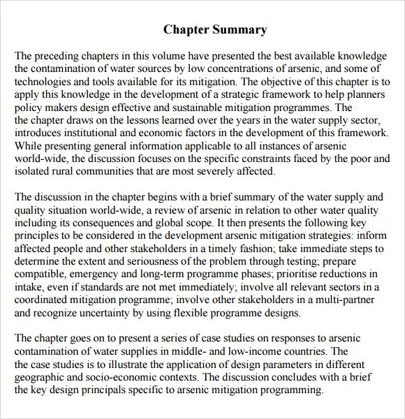 Chapter Summary Template - FREE DOWNLOAD