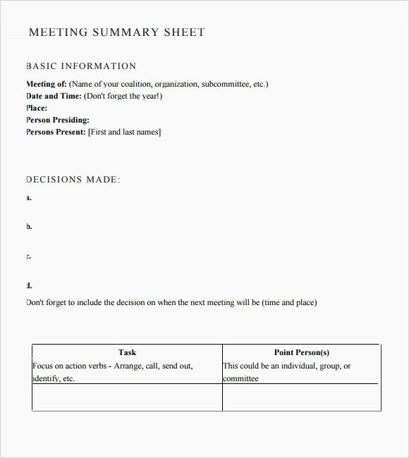 template minutes of a meeting format