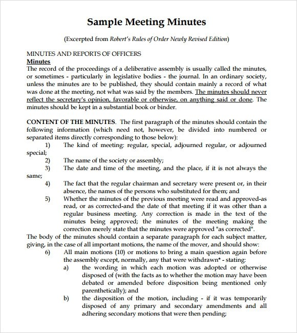 Project Meeting Minutes Template Meeting Minutes (Document Date - meeting notes template